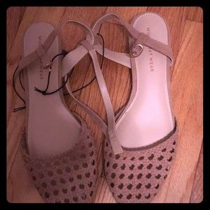 New! Who What Wear Evelyn Macrame Ankle Strap Flat